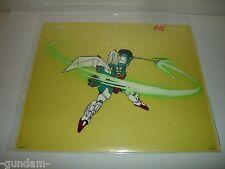 Gundam Wing anime production cel - Wufei's Altron Gundam beam trident slashing