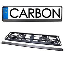 Kennzeichenhalter CARBON Kennzeichen Nummernschild Halter Rahmen 2Stk SET