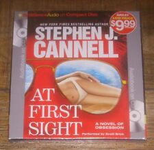 AT FIRST SIGHT by Stephen J Cannell 2013 CD Abridged Audio Book Compact Disc NEW