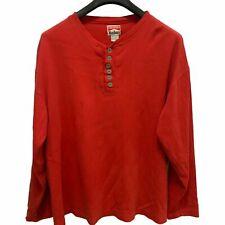 Vtg Marlboro Henley Shirt Sz XL Mens Long Sleeve, Red