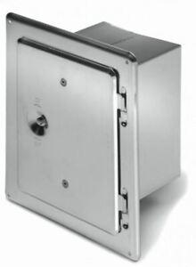 Kamintür 20 x30 cm verzinkt mit Stutzen Schornstein Reinigungsklappe Putztür