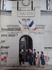 ELLE N° 0523 FRANCAISES ET DROIT DE VOTE BABAR INEDIT (24) L'INSTITUTRICE 1956