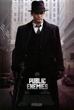 PUBLIC ENEMIES Movie POSTER PRINT 27x40 Johnny Depp Christian Bale Billy Crudup