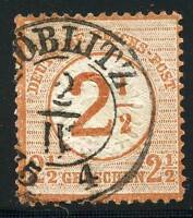 GERMANY EMPIRE SCOTT# 27VAR MICHEL# 29Ib 1 IN FRACTION SHIFTED LEF USED AS SHOWN