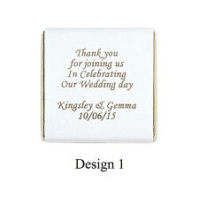 100 Personalised Chocolate wedding Favours
