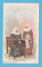 NATIONS - SINGER SEWING - RARE NATIONS / ADVERTISING CARD -  TURKESTAN  - 1894