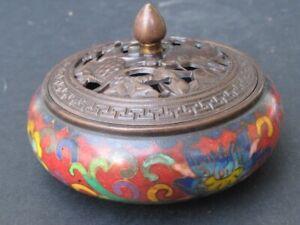 Brûle encens en Bronze cloisonné de CHINE