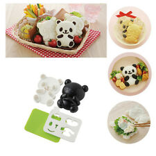 Home Kitchen Bento Panda Rice Mold Onigiri Shaper and Dry Roasted Seaweed Cutter