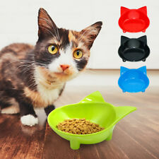 Cat Food Bowl Ceramic Non Slip Cute Cat Face Pet Dog Water Feeder Dish Dispenser