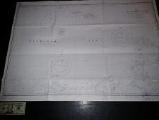 Antique Vintage US Navy Nautical Chart Aeronautical Map Cape Gauffre Pacific Isl