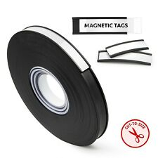 """50 Foot Roll -""""C"""" Channel Magnetic Label Holder Roll with Insert Cards and Clear"""