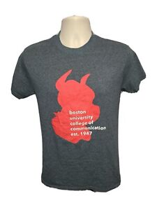 Boston University College of Communication est 1947 Adult Small Gray TShirt