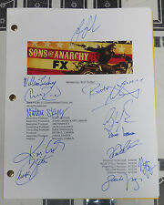 Kim Coates Ron Perlman +11 Cast Signed Sons of Anarchy Script PSA/DNA COA Auto'd