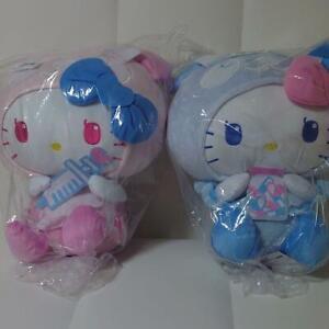 furyu panda Hello Kitty nurse pink blue 2set BIG stuffed Soft plush 33cm japan