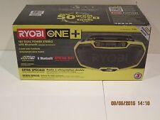 RYOBI One+ P746 18VOLT Stereo Radio Dual Power Bluetooth-FREE SHIPPING NISB!!!!!
