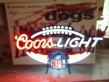 Coors Lighted Neon Beer Sign Nfl Official Bee Sponsor- 2 Colors—White & Red