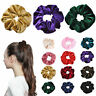 Velvet Scrunchies Ponytail Holder Hair Accessories-Lot Elastic Band Hair Fa I6R8