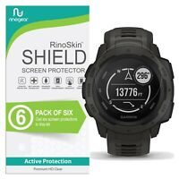 [6-PACK] For Garmin Instinct Screen Protector RinoGear USA Lifetime