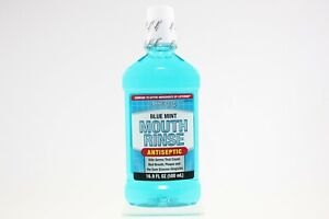 NEW Assured Blue Mint Antiseptic Mouth Rinse (16.9 fl. oz.)