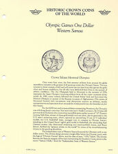 Historic Coins of the World Western Samoa 1 Tala 1976 UNC Olympic Games