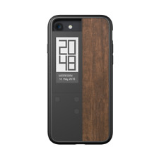 Oaxis InkCase i7 IVY - for iPhone 7 digital smart case Black/Wood Rosewood Textu