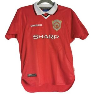 Umbro Manchester United Red Shirt Size 12-13 Years 99/00 Retro Home Vintage VGC