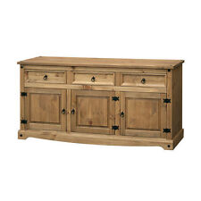Corona Premium Quality Solid Mexican Pine Sideboard Large 2 Door 3 Drawer