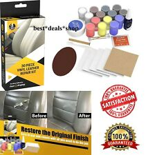 Leather and Vinyl Repair Kit Recolor Restoration Set for Couch Car Seats Boots