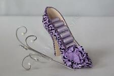 Purple Wrinkles Leopard Shoe Shape Ring Jewelry Display Holder Stand Rack