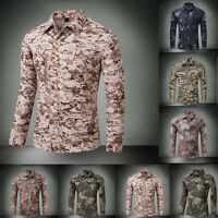 Men's Tactical Quick Dry Military Army Resistant Combat Shirt Detachable Sleeve