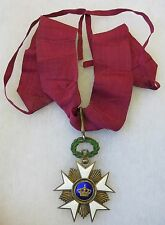 ORIGINAL WW1 Vintage BELGIAN ORDER of the CROWN BELGIUM MEDAL AWARD NECK CROSS