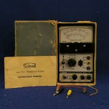 Vintage Calrad T.R.T. Transistor Tester in o=Original Box with Manual - See Pics