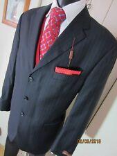 M&S Collezione Super 110 Black Pinstripe Jacket  UK 44 Long RRP £120