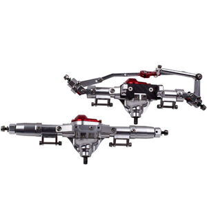 Rock Car Front & Rear Axle With Steel Gear CNC For 1:10 RC Crawler AXIAL SCX10