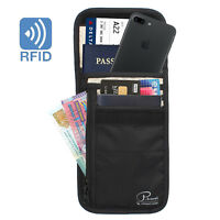 Travel Neck Pouch Neck Wallet RFID Blocking - Keep Your Cash And Documents Safe