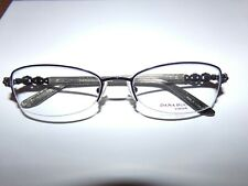 DANA BUCHMAN Eyeglass Frame KRISTINA Black NEW Stylish Half Metal Rim Frames
