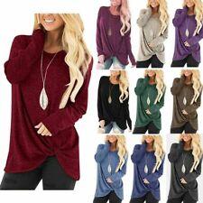 Fashion Womens Tunic Tops Long Sleeve Casual Loose Tops Blouse Shirt T-Shirt