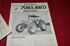 Deutz Fahr Allis 7085 Mudder Tractor Dealer's Brochure AED 1162-8811 LCOH