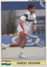 N°098 RAMESH KRISHNAN INDIA PANINI TENNIS ATP TOUR 1992 STICKER VIGNETTE