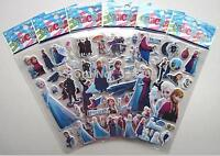 10 x FROZEN Sticker strips Party Bag Fillers Birthday favours game puffy sticker