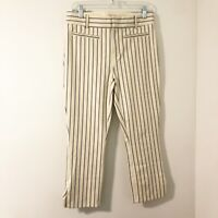 Anthropologie Essential Slim Cropped Striped Pants Women's Size 4 Casual Work