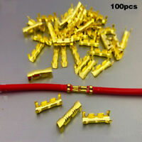100X Double U-Type Line  Cable Connector Copper 0.5-1.5mm Square Wire Terminal