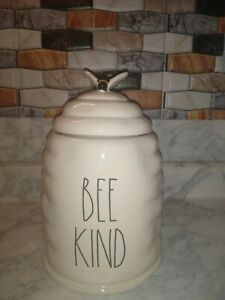 "New RAE DUNN Artisan Collection LL ""BEE KIND"" BeeHive Canister By Magenta"
