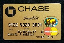 Chase Grand Elite Gold MasterCard credit card exp 1999♡free ship♡cc1113♡