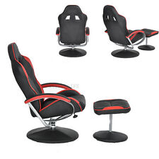Racing Gaming Chair Office chair Desk PU Leather Executive Computer  Footrest