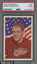 1963 Parkhurst Hockey #45 Andre Pronovost Red Wings PSA 9 MINT
