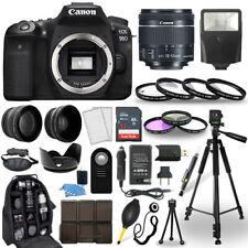 Canon EOS 90D DSLR Camera + 18-55mm STM Lens + 30 Piece Accessory Bundle