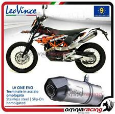 Leovince LV ONE Slip-on homologated steel exhaust for KTM 690 Enduro R 2009>2019