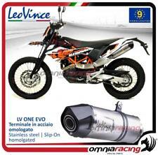 Leovince LV ONE Slip-on homologated steel exhaust for KTM 690 Enduro R 2009>2019