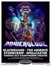 POWERGLOVE / BLACKGUARD 2011 PORTLAND CONCERT TOUR POSTER - Video Metal Music